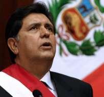 Expresidente de Perú Alan García muere tras dispararse. Foto: AFP