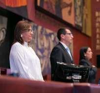 QUITO, Ecuador.- El pleno legislativo negó tres intentos por sancionar o destituir a su titular. Foto: Asamblea