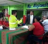 GUAYAQUIL, Ecuador.- Fiscalía y Criminalística inspeccionaron oficinas del grupo al que pertenece la exvicepresidenta.