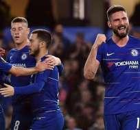 Chelsea celebra su paso a semis.