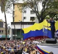 """VENEZUELA.- Según el líder opositor, esta marcha es para exigir el """"cese definitivo de la usurpación"""". Foto: AFP"""