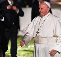 ITALIA.- Francisco leyó el texto de una religiosa de 80 años, dedicado a las esclavas modernas y prostitutas. Foto: AFP