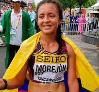 Glenda Morejón, atleta ecuatoriana.