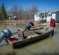 Unas 2.500 casas quedaron afectadas en la provincia de Quebec (oeste). Foto: AFP
