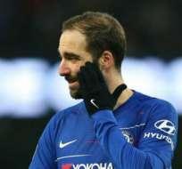 Higuaín, jugador argentino del Chelsea.