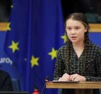 ESTRASBURGO, Francia.- Greta Thunberg es mundialmente conocida por su campaña contra el cambio climático. Foto: AFP.