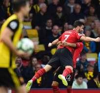 El delantero del Southampton anotó a los 7 segundos ante el Watford. Foto: GLYN KIRK / AFP