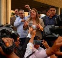 La exvicepresidenta de la República fue procesada por presunta concusión. Foto: API