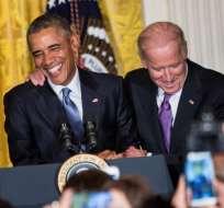 Biden fue vicepresidente de EE.UU. durante el mandato de Obama. Foto: AFP.