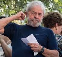 El exmandatario de 73 años cumple una pena de 8 años y 10 meses de prisión. Foto: AFP