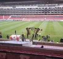 Estadio de Liga de Quito.