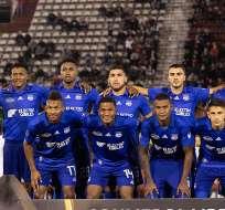 Jugadores de Emelec previo a un encuentro de Libertadores.