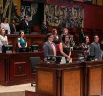 QUITO, Ecuador.- En el oficialismo, Elizabeth Cabezas daría el paso a otros legisladores. Foto: Asamblea Nacional