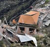 Lluvias provocan el desplome de 45 casas en Bolivia. Foto: AFP