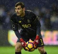 El portero español sufrió un infarto en el entrenamiento matutino del Porto. Foto: MIGUEL RIOPA / AFP