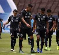 Jugadores de América de Quito luego de un partido. Foto: API.