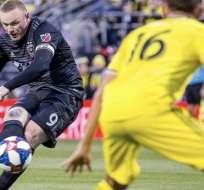 Rooney en un partido con el DC United.
