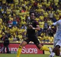 Leonardo Campana de BSC, autor del único gol del partido. Foto: Twitter BSC.