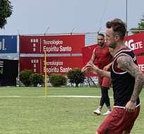 Damián Díaz en un entrenamiento de BSC.
