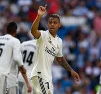 Mariano festeja uno de los tantos. Foto: Twitter Real Madrid.