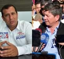 ECUADOR.- Según Leonardo Orlando (i), con fallo del Tribunal Contencioso se ratifica su victoria. Collage: Ecuavisa