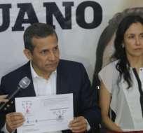 PERÚ.- Humala, de 56 años, y su esposa Nadine, de 42, estuvieron nueve meses en prisión preventiva por este caso. Foto: Archivo