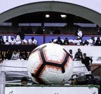Balón con el que se juega la LigaPro. Foto: Twitter LigaPro.