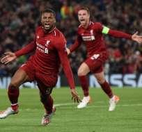 Los ingleses golearon 4-0 al equipo español en Anfield. Foto: PAUL ELLIS / AFP