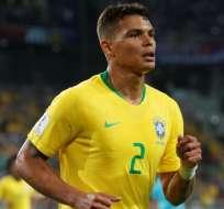 Thiago Silva, capitán y figura de la selección brasileña.
