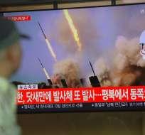 Este es el segundo ensayo armamentístico de Corea del Norte en menos de una semana. Foto: AFP