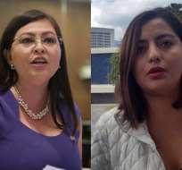 ECUADOR.- Espín y Cadena son procesadas por su visita a la exagente Diana Falcón, en caso Balda. Foto: Archivo