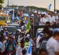 El titular de Cabildo presidió caravana días antes de terminar su mandato en Guayaquil. Foto: API