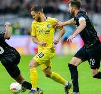 Partido entre Chelsea y el Eintracht Frankfurt.