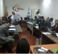 Audiencia por lavado de activos contra Iván Espinel. Foto: Twitter