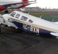 GUAYAQUIL, Ecuador.- Los tres pasajeros de la avioneta resultaron ilesos.