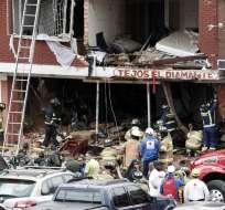 BOGOTÁ, Colombia.- La explosión ocurrió al mediodía en una empresa que se dedica a producir mechas. Foto: AFP