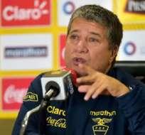 Darío Gómez en rueda de prensa.