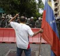 A fines de abril, cientos de venezolanos respondieron al llamado de Juan Guaidó de protestar contra el gobierno de Maduro.