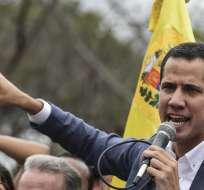 """CARACAS, Venezuela.- Guaidó llamó a sus coidearios """"a seguir exigiendo sus derechos en las calles"""". Foto: AFP"""