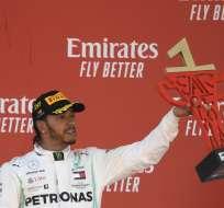 El británico pasó a su compañero Valtteri Bottas en la tabla del campeonato mundial de F1. Foto: LLUIS GENE / AFP