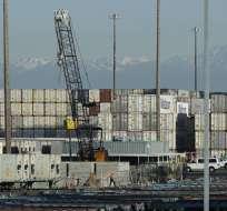Puerto de Tacoma, en Washington, el viernes 10 de mayo de 2019. Foto: AP