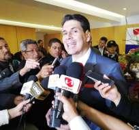 Palacios, de 43 años, se refirió a temas como la inseguridad. Foto: Red Informativa