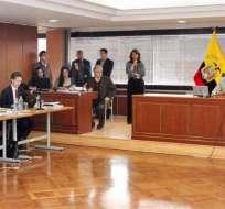 QUITO, Ecuador.- La exvicepresidenta no acudió a la audiencia donde se evalúa enjuiciarla por caso diezmos. Foto: Fiscalía