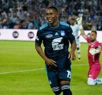 Angulo es el máximo goleador de Emelec en la temporada.
