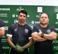 Nuevo cuerpo técnico de América de Quito. Foto: Twitter América.