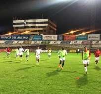 Liga de Quito en el Alejandro Serrano Aguilar. Foto: Twitter Liga.