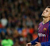 Phillipe Coutinho, volante del FC Barcelona.
