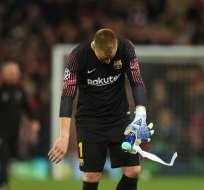El portero alemán podría faltar también a la final de la Copa del Rey ante Valencia. Foto: OLI SCARFF / AFP