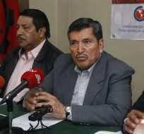 QUITO, Ecuador.- El dirigente Mesías Tatamuez cuestionó la participación de su representante en el Consejo. Foto: API