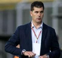 Ismael Rescalvo, entrenador azul.